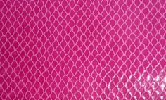"""Leather 8""""x10"""" FUCHSIA / HOT PINK Fish Net on Firm Raspberry Sorbet Patent printed Cowhide 3 oz /1.2 mm - PeggySueAlso?"""