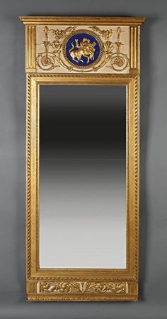 An Gustavian Carved Giltwood Pier Mirror : Lot 58