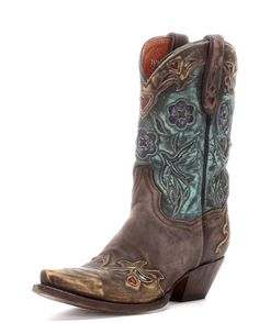 """Might have to make an exception to my rule of not getting """"brown"""" clothes and shoes....these are pretty awesome! Dan Post Women's Vintage Bluebird Boot - Sanded Chocolate $269"""