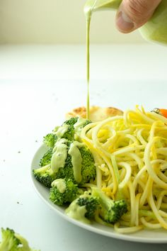 Creamy vegan pasta sauce made with BROCCOLI! It's so, so good. Savory and salty and healthy! And so versatile!