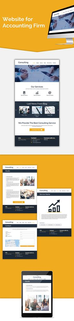 Website for Accounting Firm on Behance