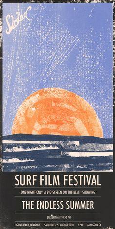 Stoked by Seb Hepplewhite #surfing #surf #illustration #orange #blue