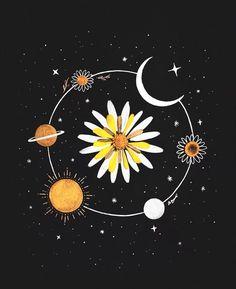 Ideas modern art prints illustration graphic design for 2019 Art Sketches, Art Drawings, Pencil Drawings, Illustration Art, Illustrations, Moon Art, Aesthetic Art, Cute Wallpapers, Art Inspo