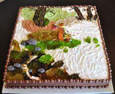 Calvin & Hobbes groom's cake - Fancy Cakes by Lauren