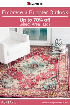 Displaying an entrancing combination of color and pattern against a bright pink backdrop, this Safavieh distressed-style area rug has an aesthetic that's sure to awaken your Bohemian heart.