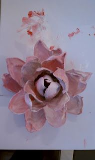 melted plastic spoon rose or flower