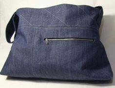 Large Tote Bag Denim Clara by iheartcharlie on Etsy