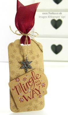 Stampin' Up! UK Demonstrator Pootles - Mingle All The Way Handmade Gift Tag
