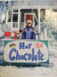 Hot chocolate stand