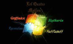 Les Quatre Maisons | Inspiration logo Microsoft