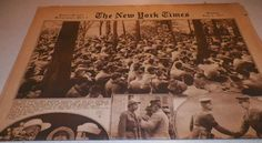 The New York Times Rotogravure Part 5 Sunday July 8, 1917 Peekskill NY Camp