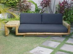Bamboo wrapped daybed from the Original Bamboo Factory