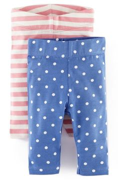 Mini Boden Print Leggings (2-Pack) (Baby Girls) available at #Nordstrom
