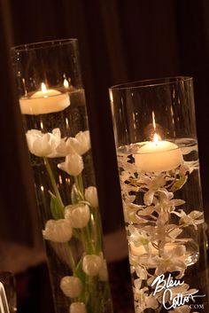 Candle lit Floating Arrangements