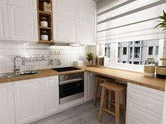 Znalezione obrazy dla zapytania biała kuchnia z pastelowymi dodatkami
