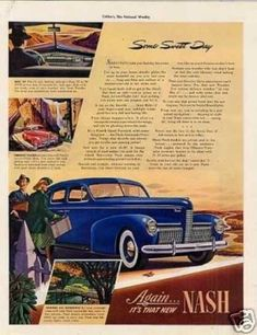 "Nash Car Ad ""Some Sweet Day... (1940)"