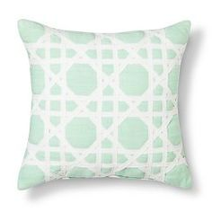 Threshold™ Cane Pattern Decorative Pillow - Mint