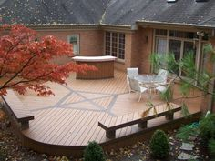 Curved Timber Tech composite deck with style! Located in Washington Twp outside Dayton Ohio