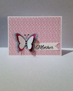 Send this card to your mom.  Cut-out butterfly available in different colors.