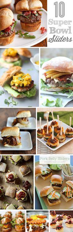 10 Sliders and Mini Burgers {Super Bowl Recipes}