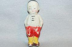 Vintage / Bisque Doll /  Asian / Boy / frozen charlotte / penny doll / Vintage Dolls on Etsy, $9.75