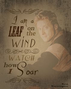 Oh Wash =] I am a leaf on the wind. Oh the sadness. I knew he died. I didn't know he died so suddenly. :,(