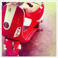 Red Vespa Red Vespa, Buses, Stationary, Gym Equipment, Cars, Autos, Busses, Car, Workout Equipment