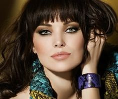 Maquillage élégant pour les yeux clairs