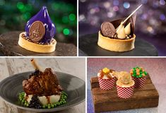 The magic is calling all Foodies to the Walt Disney World Resort 50th anniversary celebration – The World's Most Magical Celebration! Throughout all four theme parks and beyond, Disney chefs and mixologists have created more than 150 sips and bites full of color, whimsy, and a touch of EARidescent shimmer #DisneyWorld50 White Chocolate Mousse, Chocolate Bundt Cake, Celebration Chocolate, Chocolate Dipping Sauce, Dessert Drinks, Desserts, Disney Food, Walt Disney, Disney Travel