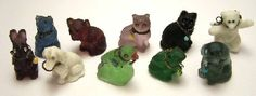 Antique/vintage Czech Glass Charms...I love these little guys!
