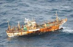 Canadian air patrol has spotted an empty Japanese squid-fishing boat drifting across the Pacific and heading for land. Beat-up and likely worthless, the 150-foot ship is part of 20 millions tons of tsunami debris floating toward US and Canadian shores—so Canadian authorities may just leave it alone, the Vancouver Sun reports. The good news: The ship's owner, contacted in Japan, says no one was on board when the boat was swept away last year, reports CNN.