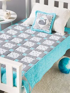 Baby quilt pattern from Quick & Easy Baby Quilts from AnniesCraftStore.com. Order here: https://www.anniescatalog.com/detail.html?prod_id=122975