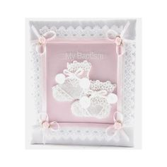 So sweet! Satin Baptism Photo Album for Baby Girl.