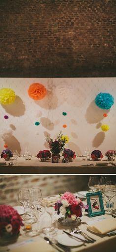 wedding pom pom http://www.mikiphotography.info/