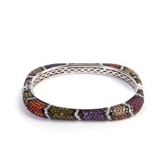 This tiny and delicate style, is perfect for every kind of event. Crafted from sterling #silver and a colorful pave, it features a big range of multicolor stone, which has been intricately handcrafted for flawless results.  #jewel #madeinitaly #chic #fashion #ultimaedizione