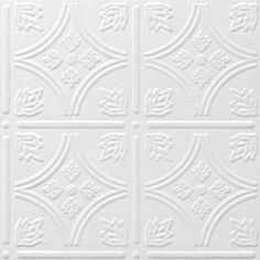 Armstrong Ceilings Common X Actual Tin Look Tintile Homestyle White Faux Surface Mount Acoustic Ceiling Tiles At Lowe S