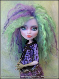 Monster Doll High Fashion Repaint Custom OOAK by Fantasydolls