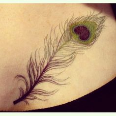 Love this peacock feather tattoo!!!