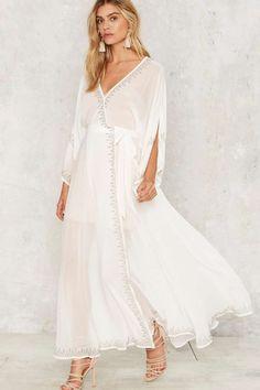 The Jetset Diaries Las Perlas Kimono Dress - White - Sale: 70% Off | Summer Dresses | White Dresses | Dresses