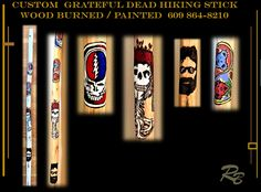 Grateful Dead gifts, grateful dead memorabilia Grateful Dead, Wood Hiking Stick, Hiking Accessories, Gifts For Husband, Husband Wife, Daughter, Wood Anniversary Gift, Hiking Gifts, Boyfriend Gifts