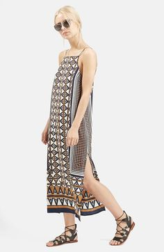 Topshop+Stripe+Print+Midi+Dress+available+at+#Nordstrom