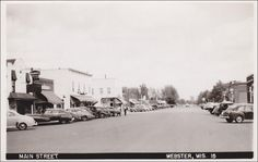 RP: Main Street , WEBSTER , Wisconsin , 30-40s