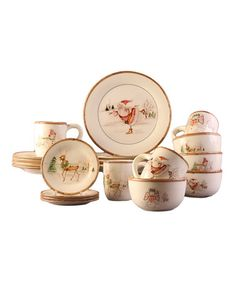 Look what I found on #zulily! Christmas Dinnerware Set by Jay Import #zulilyfinds