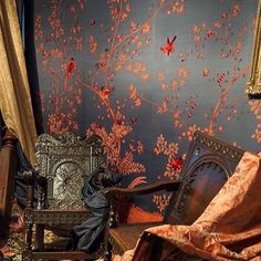 """69 Likes, 3 Comments - ralph rucci (@ralphrucci) on Instagram: """"Black and cinnebar lacquer in a chinoiserie human being cache-pots."""""""