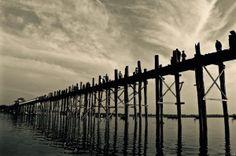 U Bein Bridge at sunset, Mandalay, Myanmar