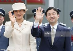 Crown Princess Masako (L) and Crown Prince Naruhito (R) see off Emperor Akihito and Empress Michiko departing for Canada at Tokyo International Airport on July 3, 2009 in Tokyo, Japan. The emperor and empress are on fortnight trip to Canada and Hawaii.