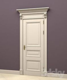 models: Doors - The door in the English style 4 de modelos de puertas White Interior Doors, Door Design Interior, White Doors, Home Interior, Wood Front Doors, Oak Doors, Wooden Doors, Bohemian Style Home, Door Molding