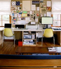 this is a great office space for two...  mark and i could do something similar when we have a place that has enough room.