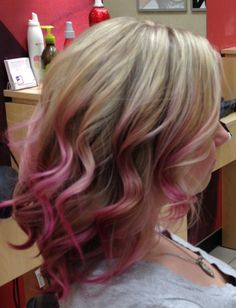 Pink ombre hair!