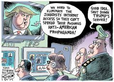 Donald Trump plans to 'shut down' parts of the internet and 'penetrate' others' .. (story here)